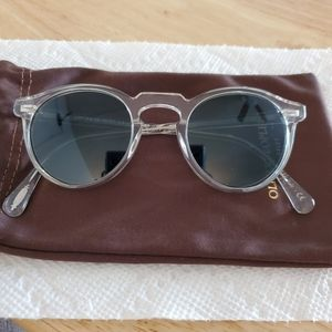 Oliver Peoples Gregory Peck Sunglasses/Blue Lens